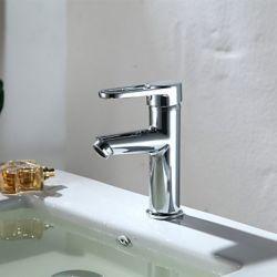 Robinet de lavabo à finition chromée pour un style antique