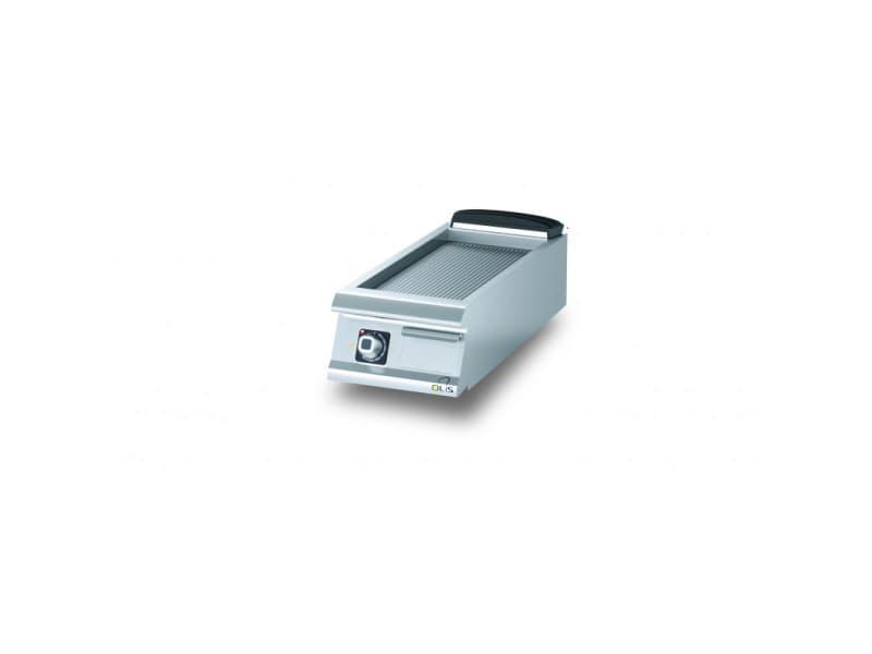Plancha electrique rainurée aisi 430 diamante 90 - 400 à 800 mm - olis - acier 400 mm