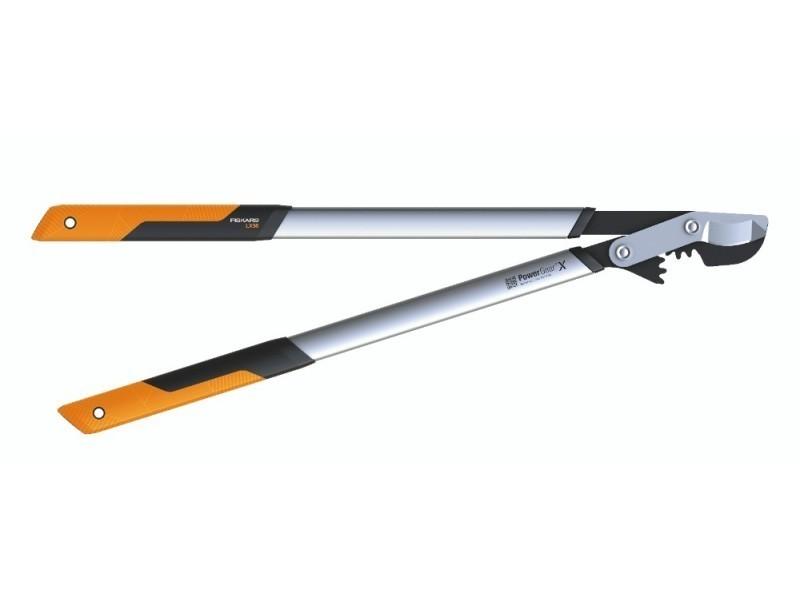 Fiskars - coupe-branches powergear x - l à crémaillère et à lame franche 80 cm - ø 55 mm 112490