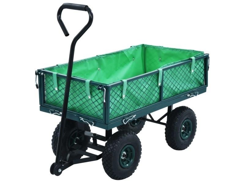 Distingué outils famille apia chariot à main de jardin vert 250 kg