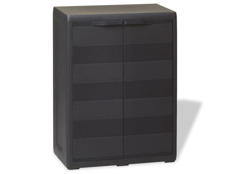 Vidaxl armoire de rangement jardin avec 1 étagère noir - Vente de Armoire - Conforama