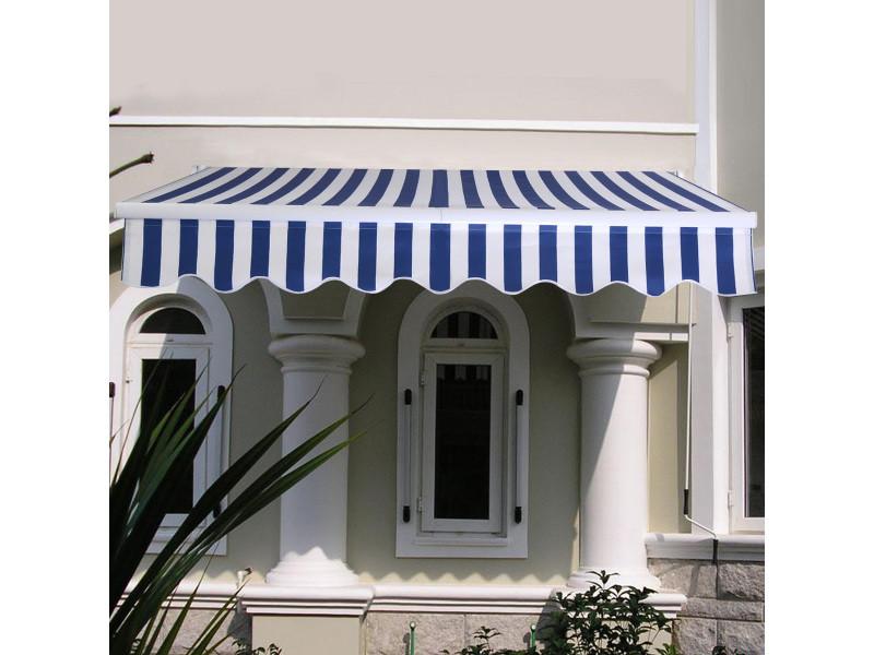 Giantex store banne rétractable 3 x 2,5m avec tissu résistant aux uv et à l'eau, cadre en aluminium pour terrasse,balcon