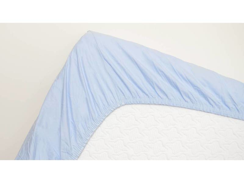 Snoozing - coton - drap-housse - 140x220 cm - bleu clair SMUL102155612