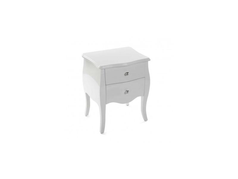 Table de chevet laquée blanche cagliari 21260006