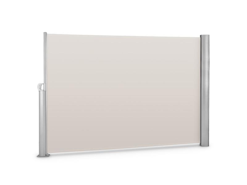 Blumfeldt bari 320 cloison pare-vue latéral - 300x200cm - cadre aluminium - crème sable