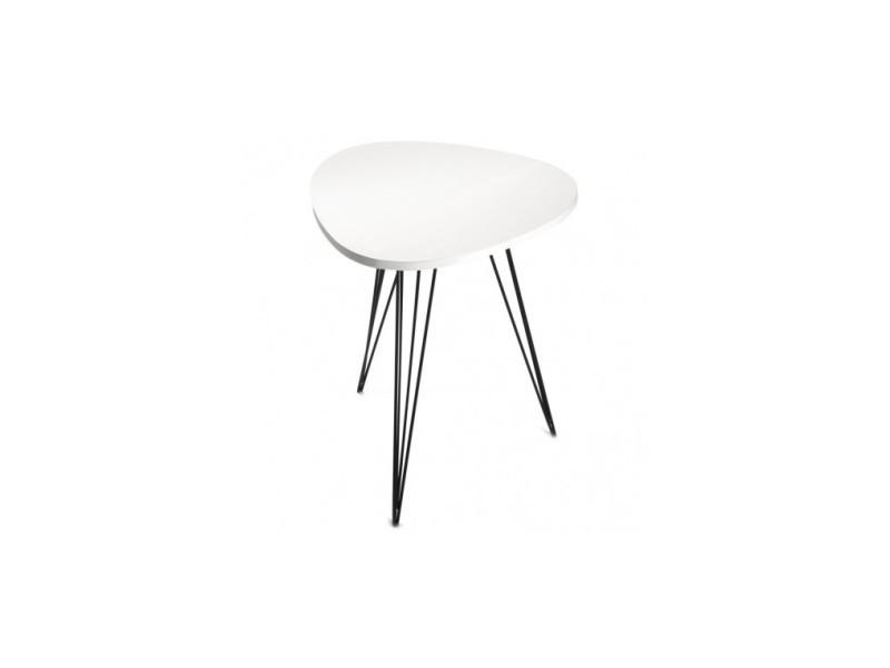 Table d'appoint design bois blanc seattle