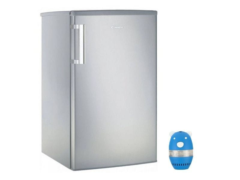Réfrigérateur frigo simple porte table top inox 97l a+ froid statique eclairage led