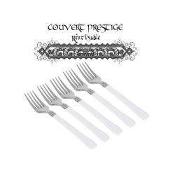 20 fourchettes prestige jetables plastique blanc
