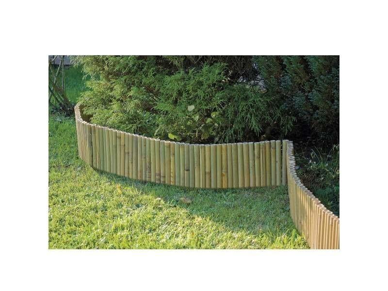Mobilier de jardin et aménagement extérieur bordure bambou rouleaux avec maintien facilité par le di