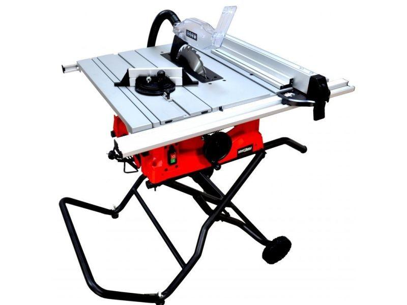 Dcraft - scie sur table - puissance nominale 2800 w - régime de ralenti 5000 min-1 - scie coupe bois - atelier bricolage - rouge