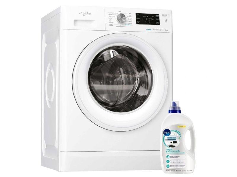 Lave-linge frontal 9kg 1400trs/min tambour 62l 6eme sens machine à laver hublot