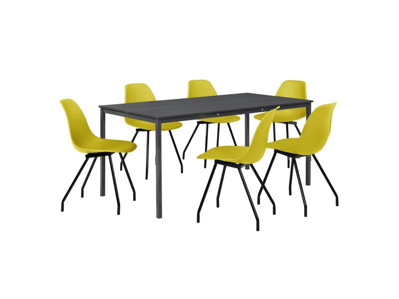 MangerGris FoncéAvec Des À casa ® En Chaises Table Élégantes by6gYfv7