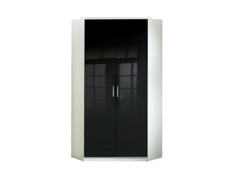 armoire d 39 angle cooper noire avec 2 portes battantes 20100866096 vente de dressing conforama. Black Bedroom Furniture Sets. Home Design Ideas