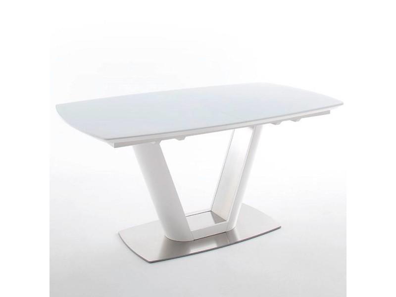 Table repas extensible design vitali 160cm blanche 20100872018