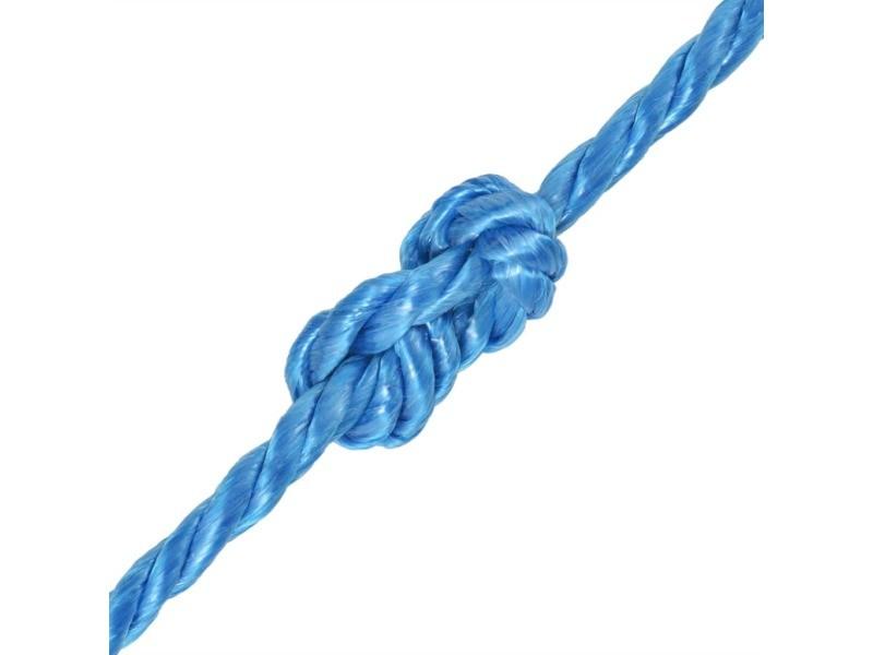 Icaverne - cordes et câbles de construction collection corde torsadée polypropylène 14 mm 250 m bleu