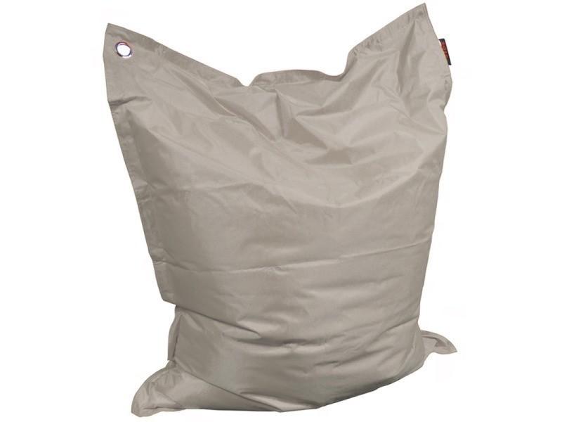 Coussin xl toile polyester ultra résistante taupe, 110 x 130 cm très confortable PFSIDEMAXCSGN-110x130-TPE
