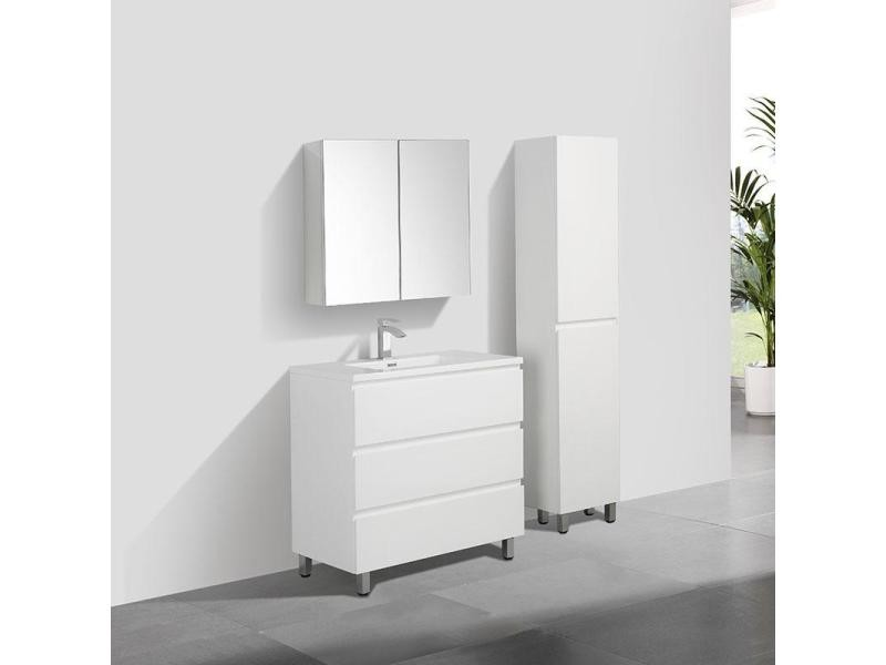 Meuble Salle De Bain Design Simple Vasque Verona Largeur 90