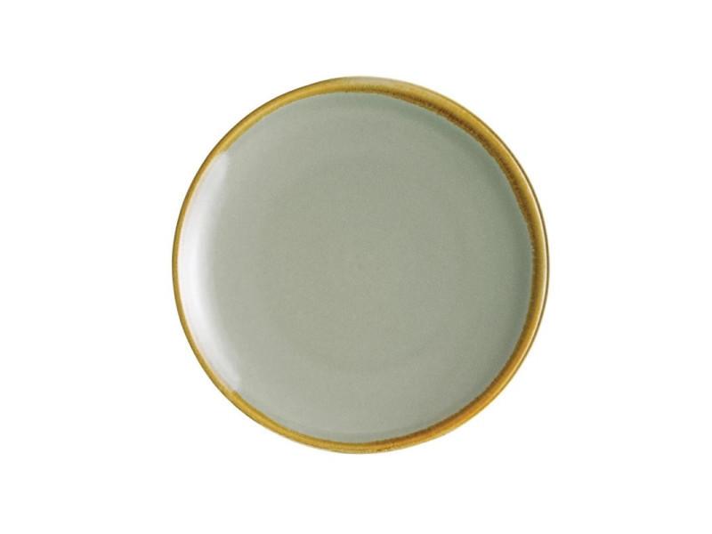 Assiettes restaurant plates rondes mousse 178 mm - plusieurs couleurs - kiln olympia - lot de 6 - 17,8 cm porcelaine