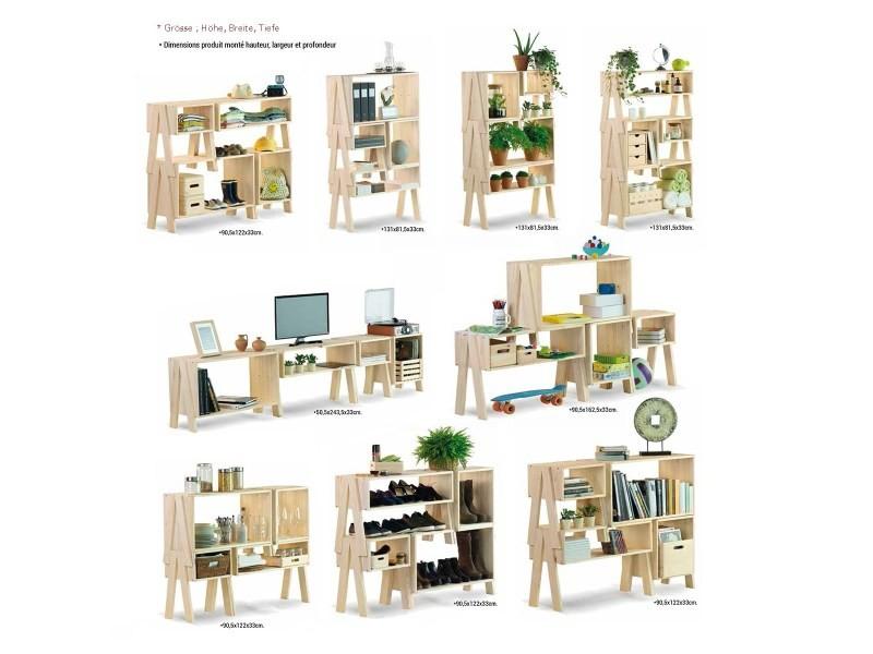 Ensemble de rangement salon - 4 meubles - Vente de EUROPE ET NATURE - Conforama
