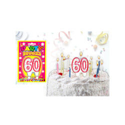 Bougies chiffres anniversaire - bougies chiffres anniversaire 60 - bougies chiffres anniversaire 60
