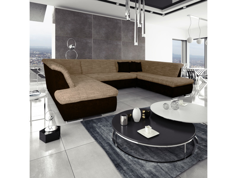 Canap silema panoramique avec dossiers marron - Canape panoramique conforama ...