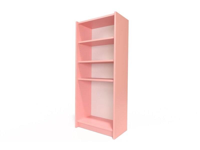 Étagère bibliothèque bois rose pastel ETABIB-RosePas