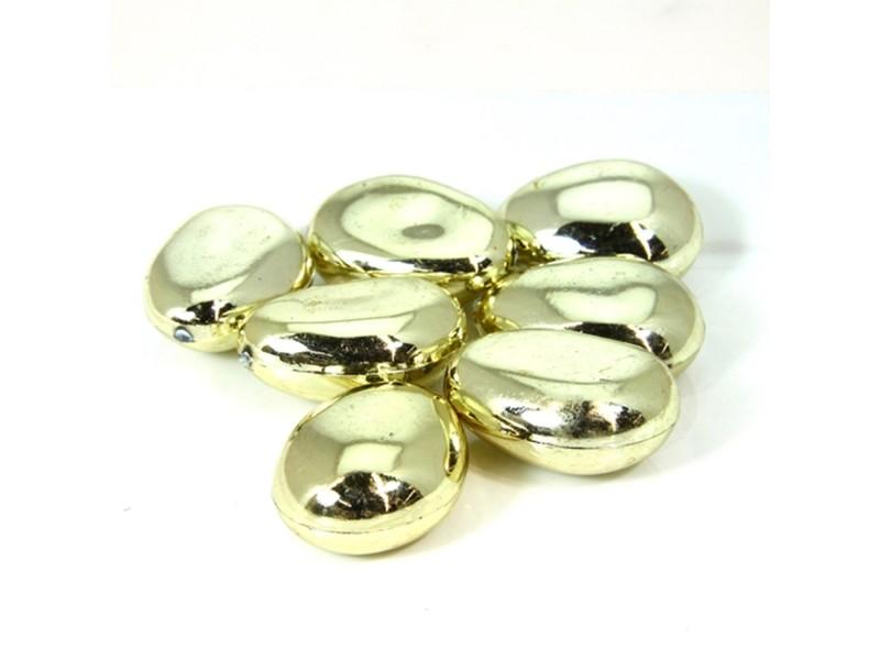 Pierres de table décoratives brillantes - rond - or