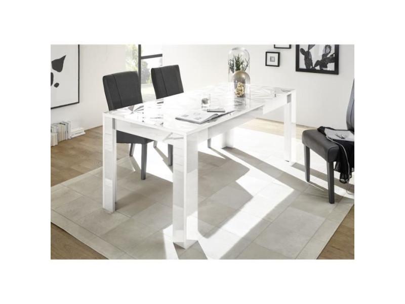 Table de salle a manger rectangulaire - blanc laque brillant - l 180 x p 90 x h 79 cm - parigi BOB8024963403670