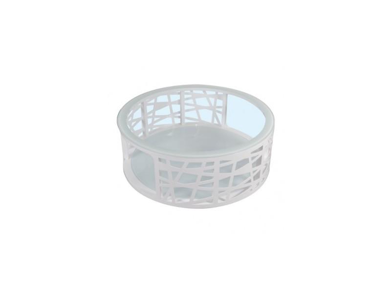 Table basse 100 cm double plateau verre diapason