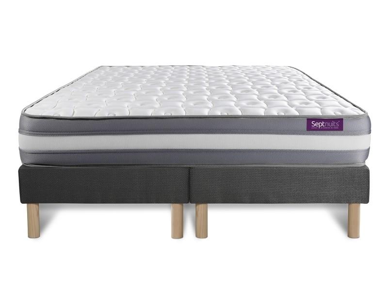 matelas 160x200 double sommiers gris 80x200 memo plus m moire de forme 3 zones. Black Bedroom Furniture Sets. Home Design Ideas