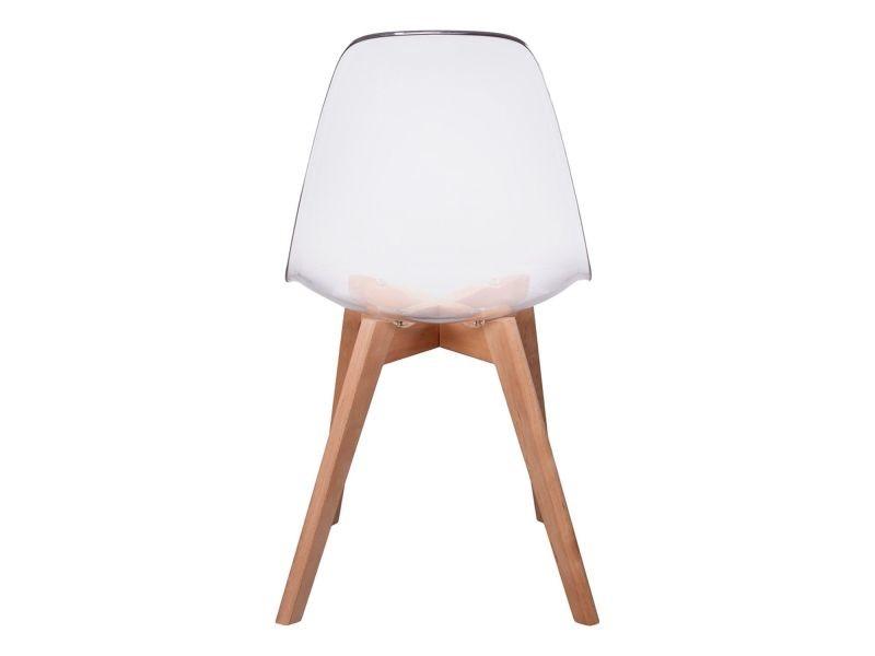 Chaise scandinave transparente h 86 cm blanc vente Chaise scandinave transparente casa