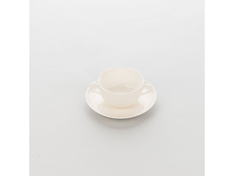 Bol porcelaine ecru avec anses liguria 360 ml - lot de 6 - stalgast - 11 cm porcelaine 36 cl