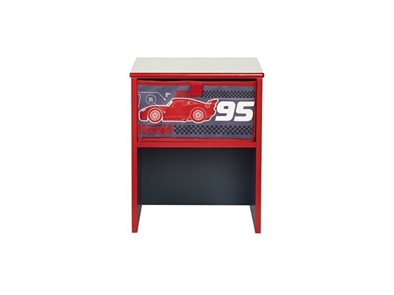 table de chevet disney cars noir rouge conforama. Black Bedroom Furniture Sets. Home Design Ideas