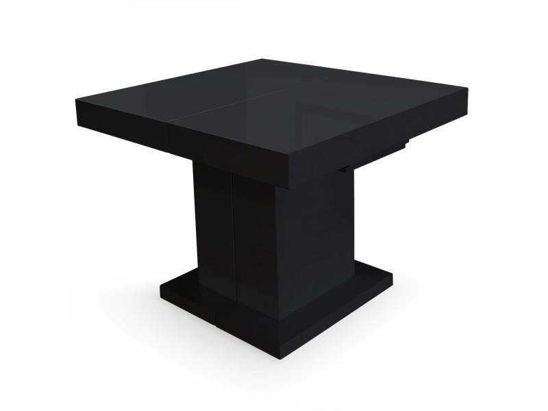 Table extensible mustang noir laqu vente de table for Table extensible mustang