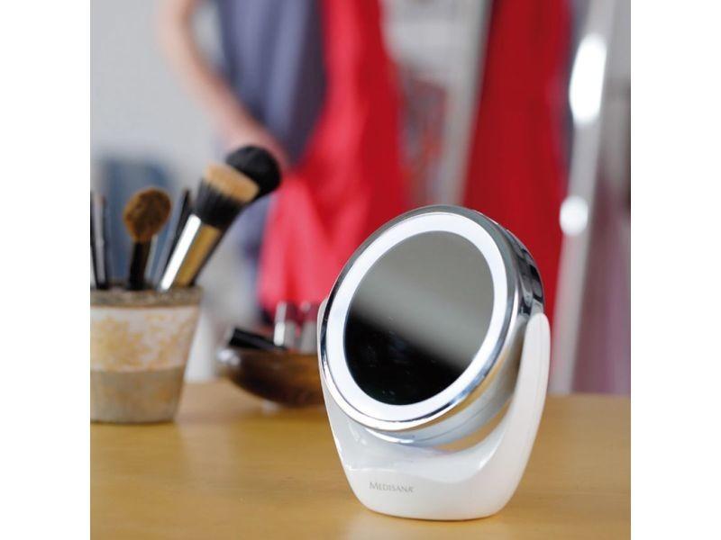 Icaverne - miroirs de maquillage serie medisana miroir cosmétique 2-en-1 cm 835 12 cm blanc 88554