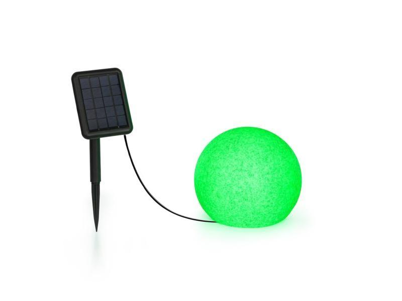 Blumfeldt shinestone solar 20 - lampe ø 20cm pour jardin & terrasse - panneau solaire - 16 couleurs - batterie lithium-ion LEU13-Shinestone-20