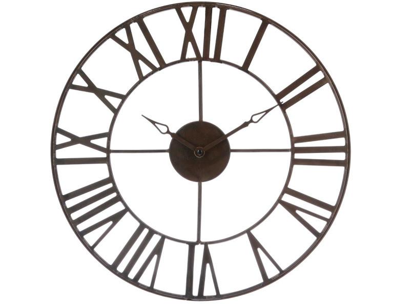 Horloge Murale En Metal Marron Style Industriel 40 Cm Vente De