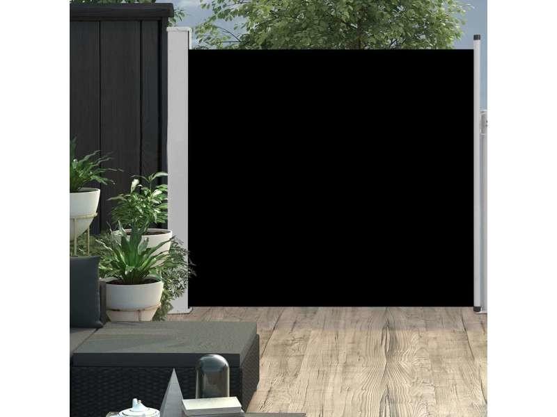 Stylé vie en extérieur serie bandar seri begawan auvent latéral rétractable de patio 170x300 cm noir