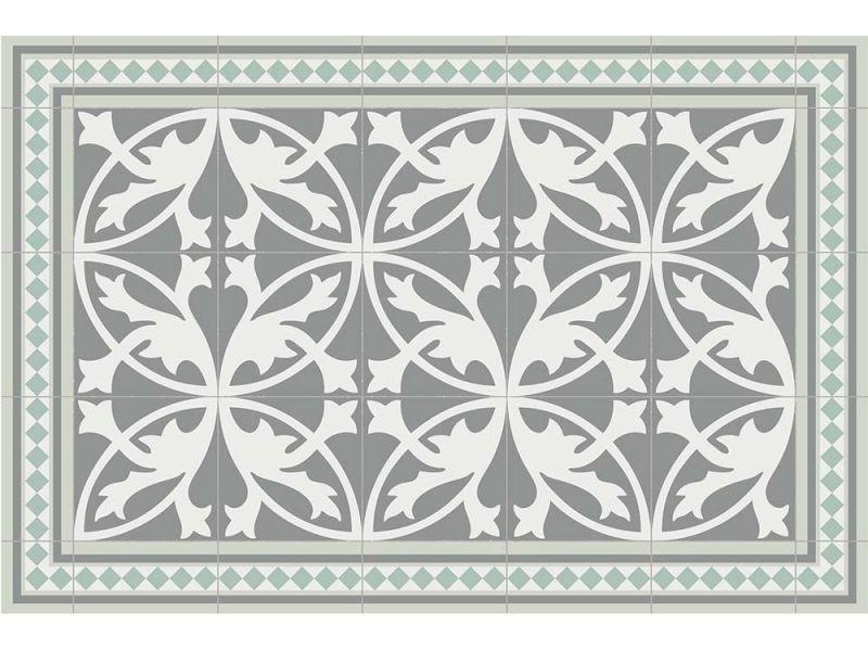 Contento - tapis intérieur extérieur en vinyle carreaux de ciment feuilles