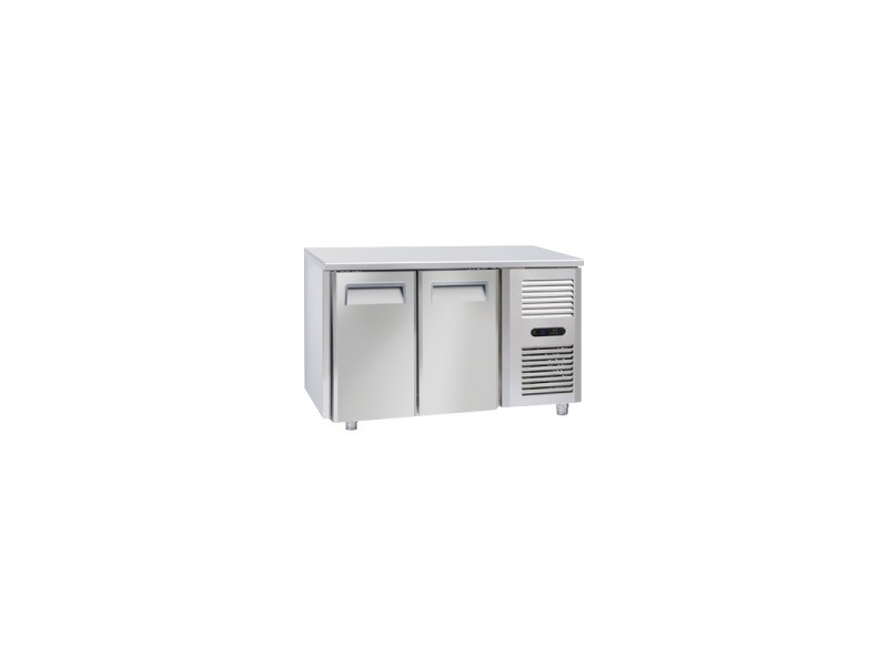 Table réfrigérée négative 2 portes gn 1/1 - profondeur 700 - cool head - r290 2 portes pleine
