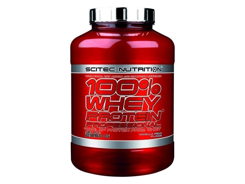 100% whey proteine professional 2350g vanille poire..