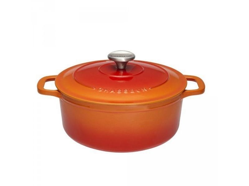 804d54dcdf778c Cocotte ronde en fonte émaillée 26cm orange sublime - puc472607 puc472607 -  Vente de CHASSEUR - Conforama
