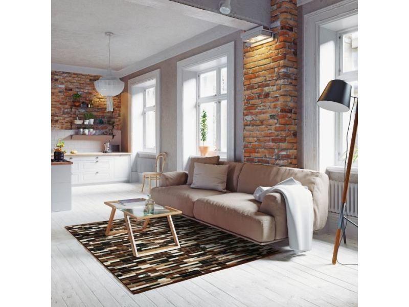 Tapis - dessous de tapis patchwork tapis de salon - cuir ...