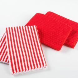 3 torchons 40 x 40 cm cuistot rouge 2 unis/1 rayé