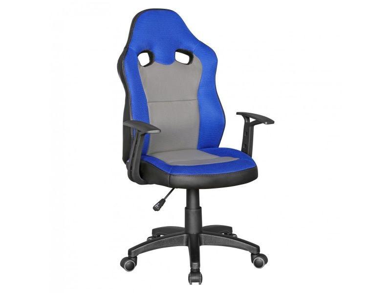 Gris Design Bureau Coloris En Pvc Et Maille Bleu Chaise De Gamer GqzMVLSUp