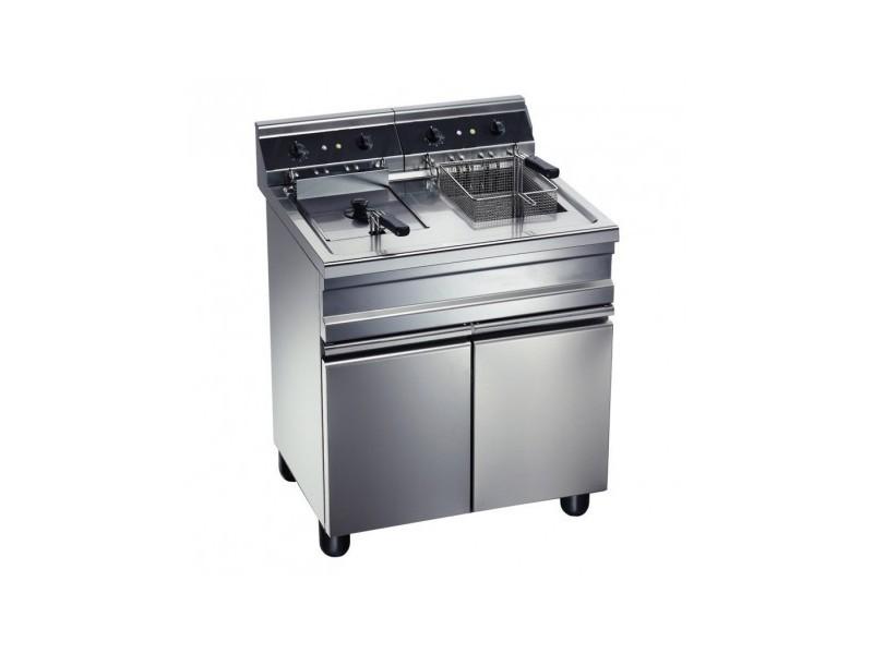 Friteuse électrique sur coffre - 2 bacs x 14 litres - 2x 9,0 kw - furnotel -