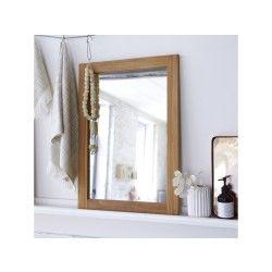 Miroir en teck bahya solo 70x50