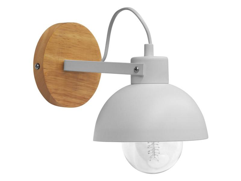 Applique en métal et bois blanc vente de applique conforama