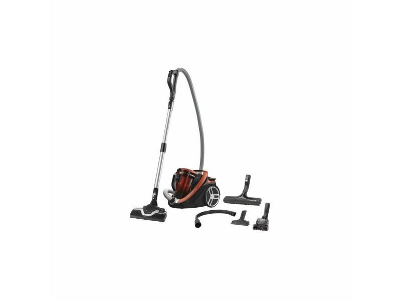 Aspirateur sans sac silence force cyclonic de 2,5l 550w orange rouge noir