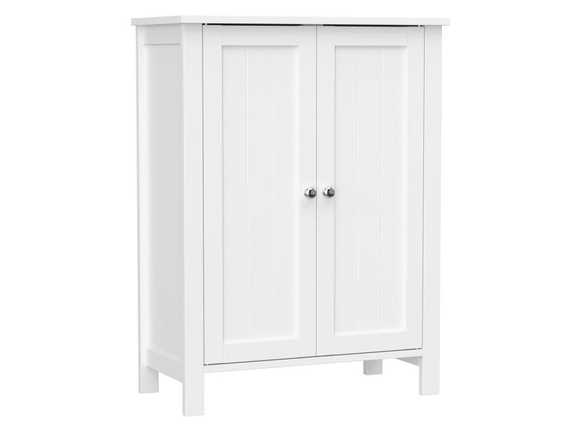 Meuble de salle de bain, meuble de rangement, blanc bcb60w VASAGLE® Dimensions: 60 x 30 x 80 cm